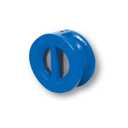 Ductile Iron Body Double Door Wafer Check Valve Finished With Fusion